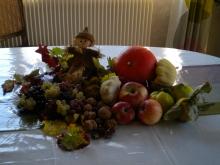 décoration de table gîte le mandlé à riquewihr