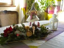décoration de table noël gite le mandlé à Riquewihr