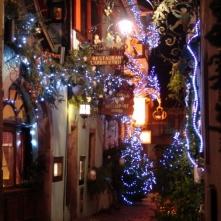 les rues de Riquewihr à noël