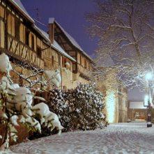 la neige à Riquewihr